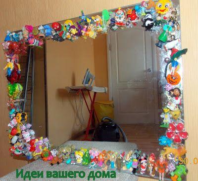 Как красиво задекорировать зеркало своими руками 68