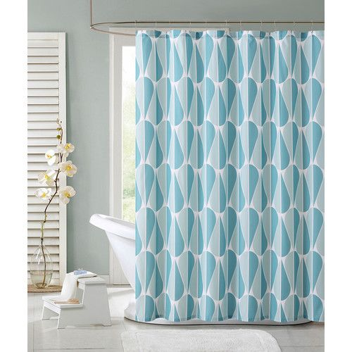 Found It At Wayfair Aqua Drops Shower Curtain With Images