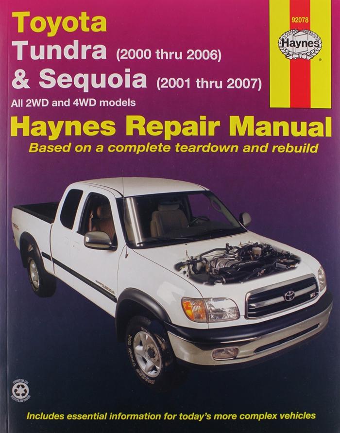 Toyota Tundra 00 06 Sequoia 01 07 Technical Repair Manual By Haynes Repair Manuals Repair Manual