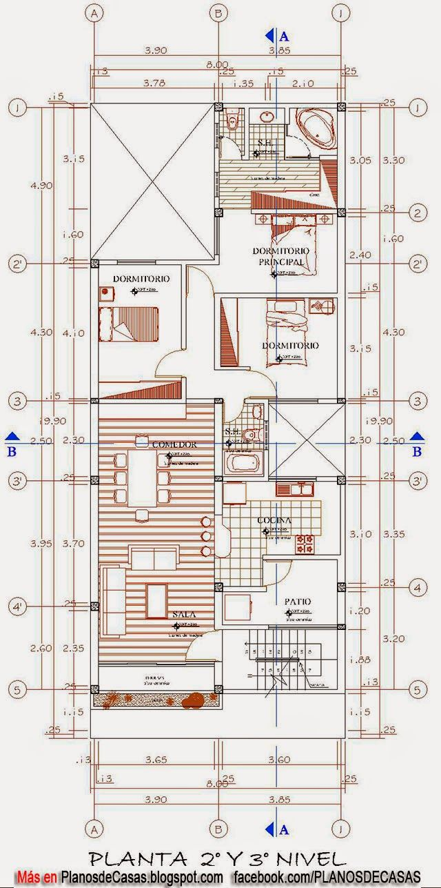 Planos de vivienda multifamiliar planos pinterest for Vivienda minimalista planos