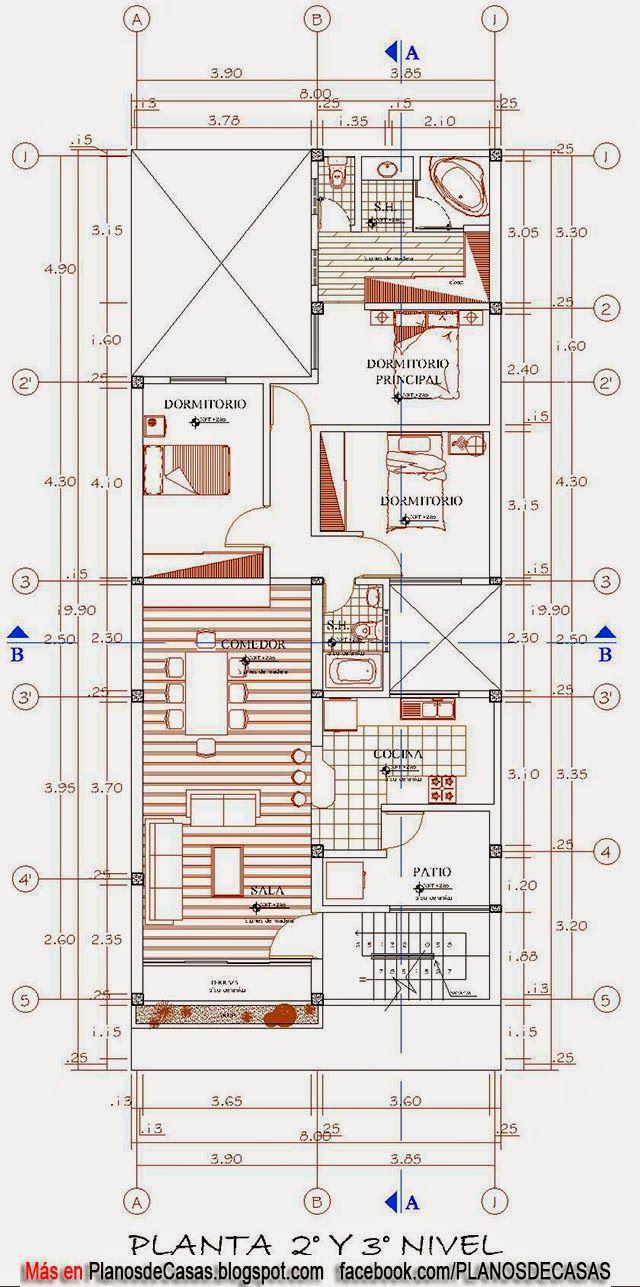 planos de vivienda multifamiliar pinteres
