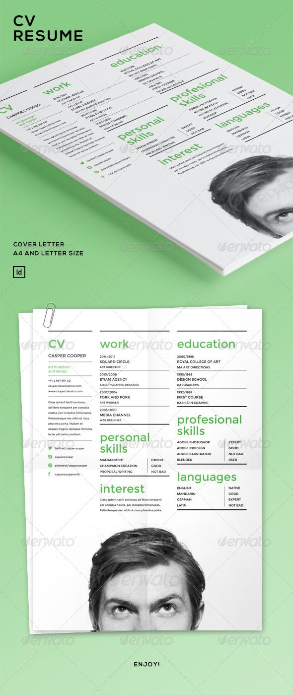 Cv Resume See This Green Colour Imagine If When You Apply For