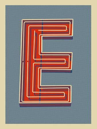 Letter C Screen Print Poster Methane Studios Robert Lee ltd ed. #kids #boys #girls #nursery #walls #print #art #initial #monogram #type #livingroom #bedroom