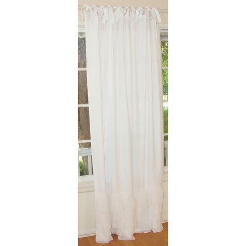 White Chiffon Panel Drapes, Set Of Two