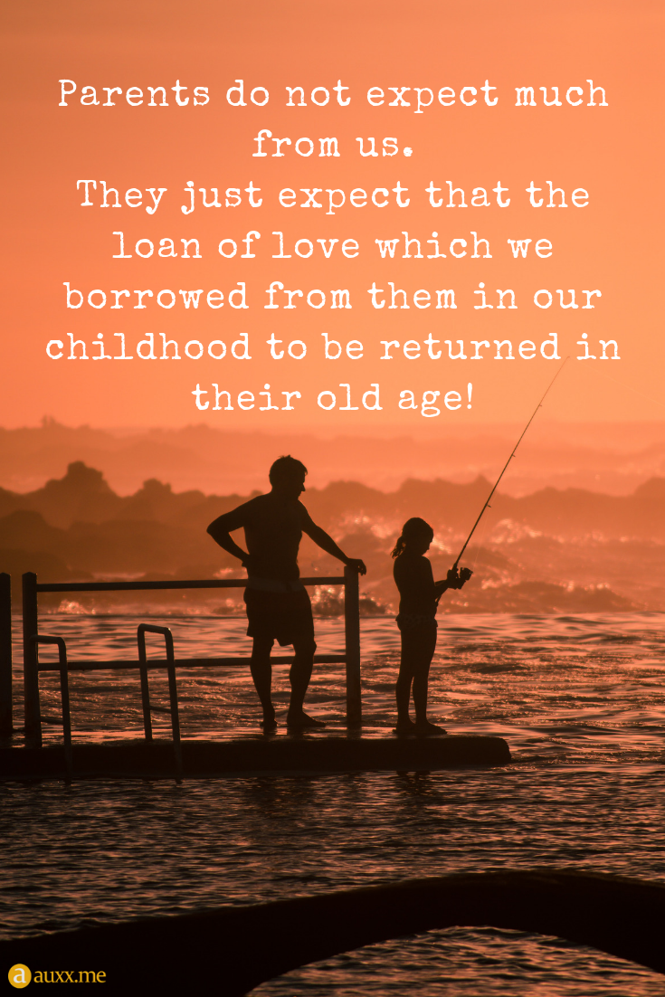 Parents do not expect much from us. They just expect that the loan ...