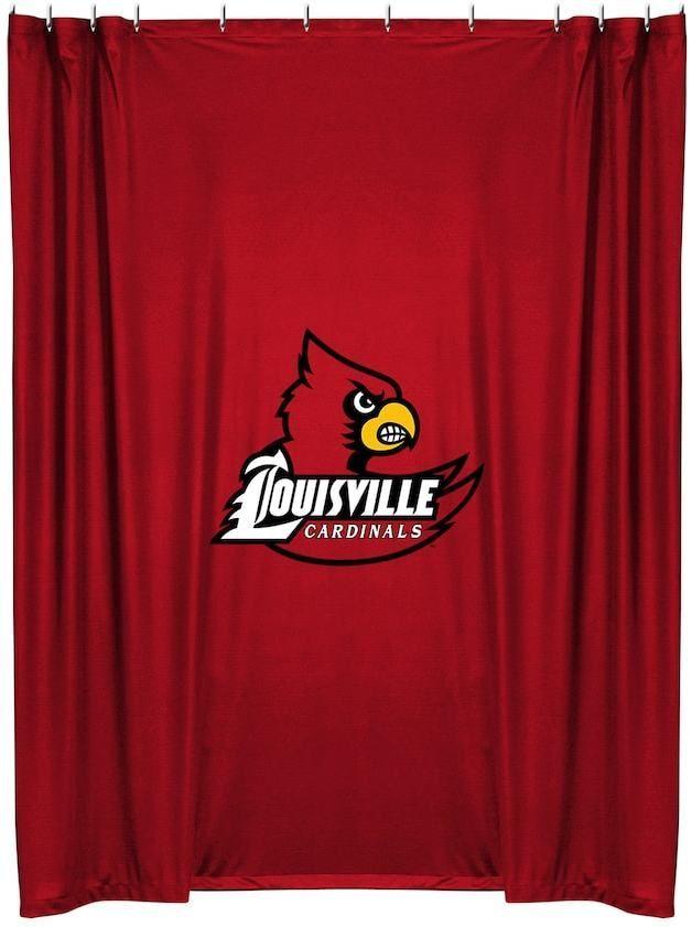 Championship Louisville Cardinals Shower Curtain Kansas City Chiefs