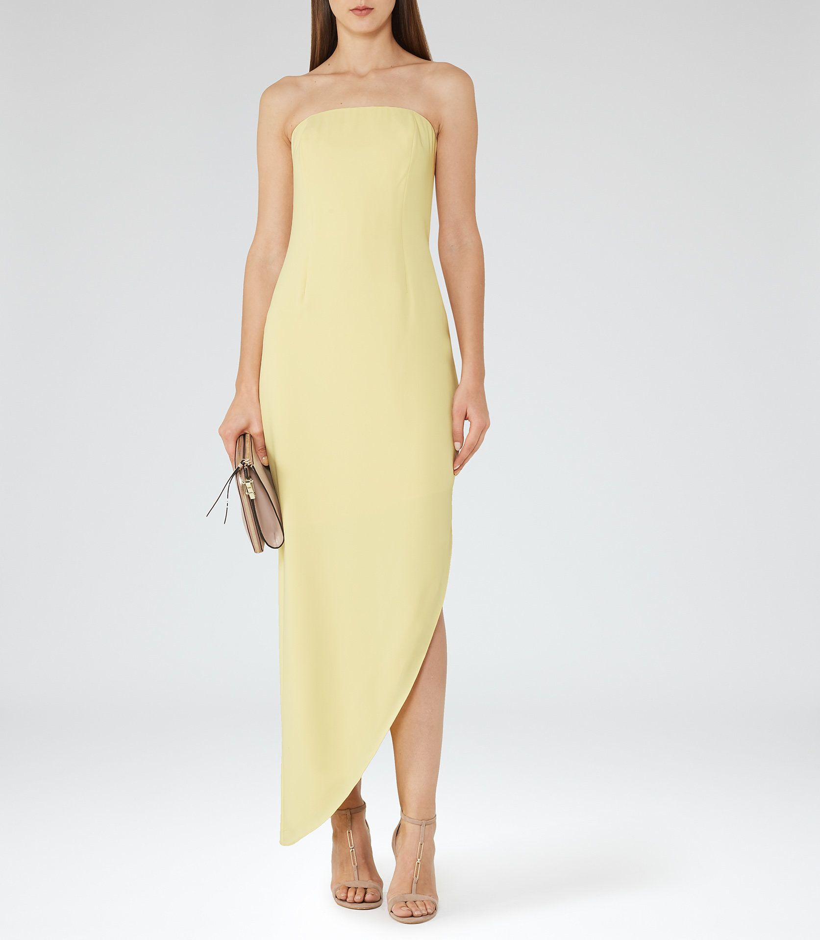 0e4c28066600 Rima Lemon Strapless Asymmetric Maxi Dress - REISS   The rima strapless  asymmetric maxi dress in