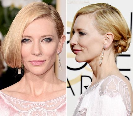 The Prettiest Golden Globes Updos from Every Angle | InStyle.com