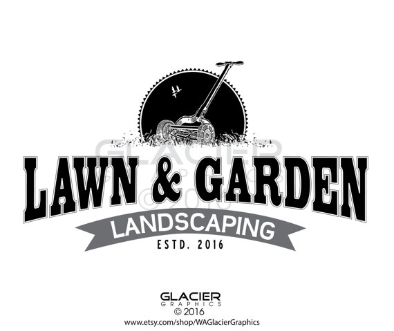 Premade Custom Landscaping Logo Pre-made Lawn by WAGlacierGraphics ...