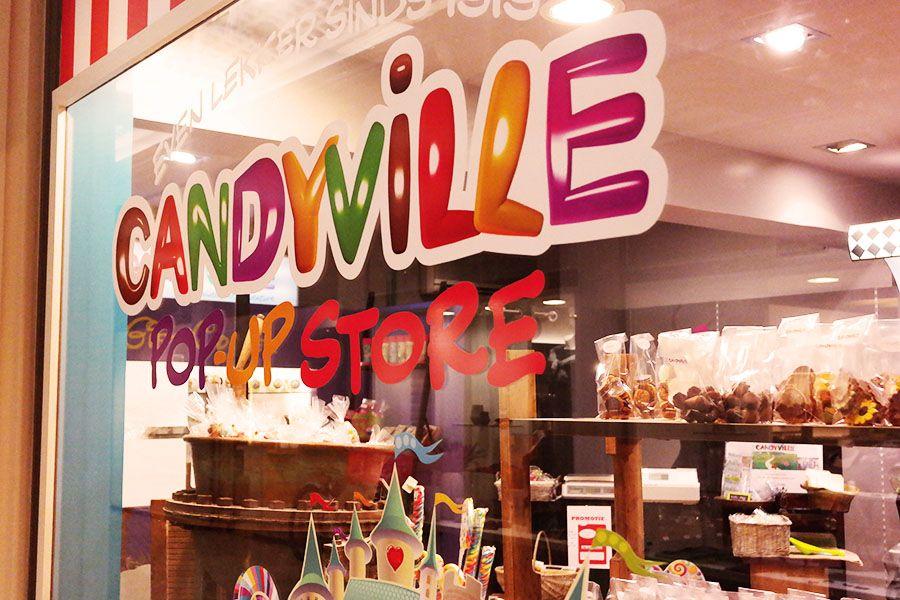 Candyville pop up is een snoepwinkel in de Nieuwe Gaanderij in Antwerpen.