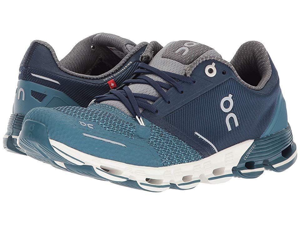 On Cloudflyer (Storm/White) Women's Shoes. Soar alongside
