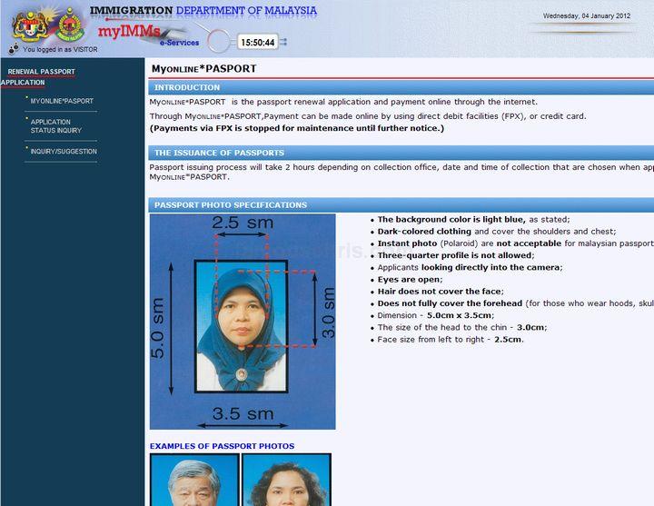 How To Renew Malaysian Passport Online Passport Online Renew Life