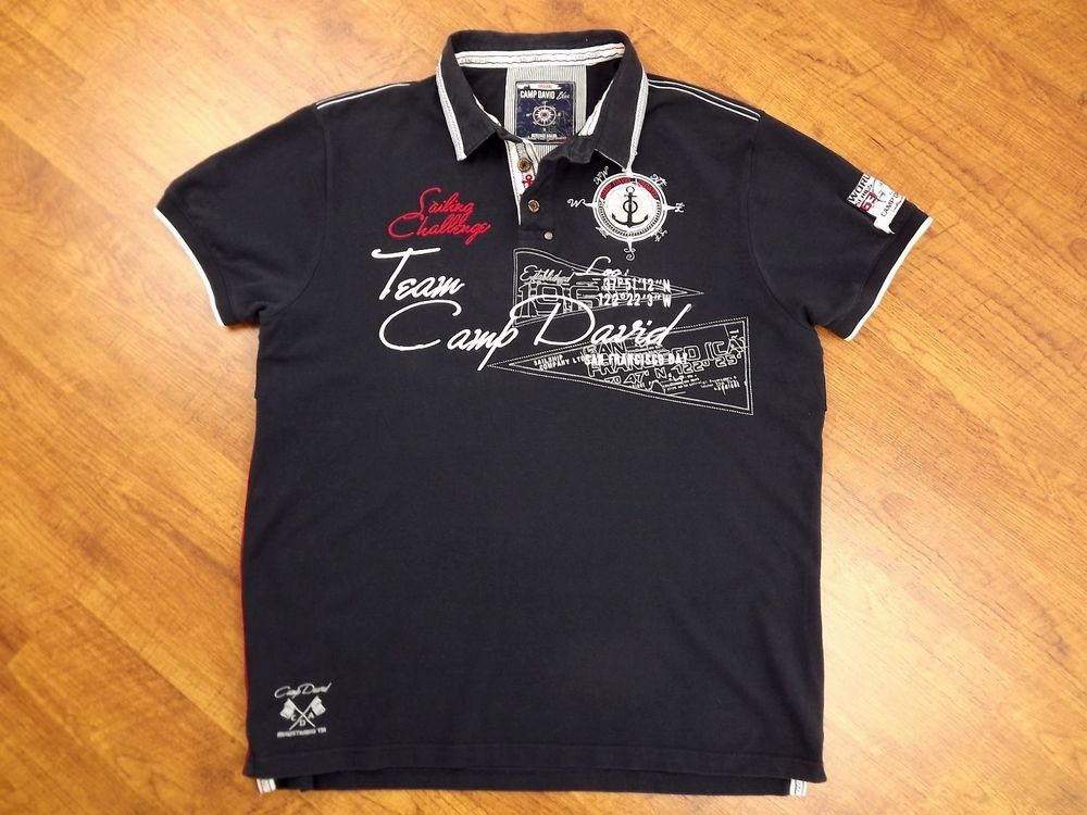size 40 timeless design detailed images CAMP DAVID MENS SAILING POLO SHIRT L YACHTING SHORT SLEEVE ...