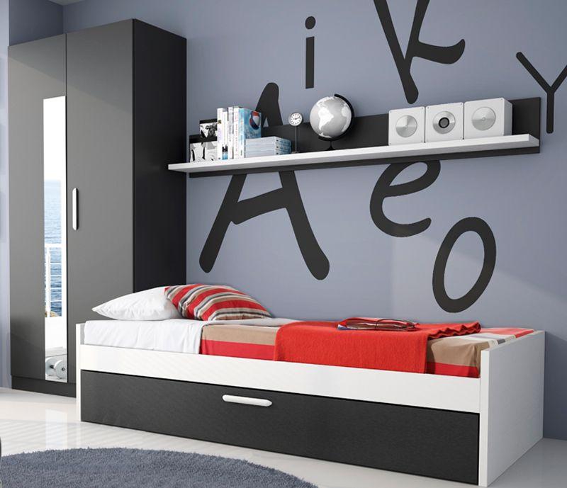 Cómo decorar una habitación juvenil para chicos | Dormitorios ...