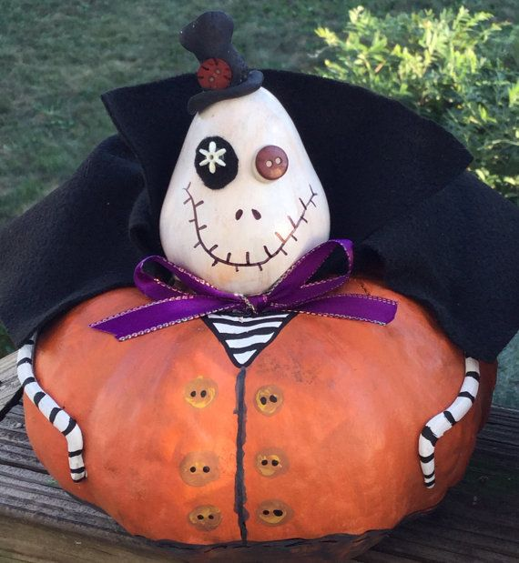 PunkyWeen Halloween Gourd Creation Chester by EDENFINEART on Etsy