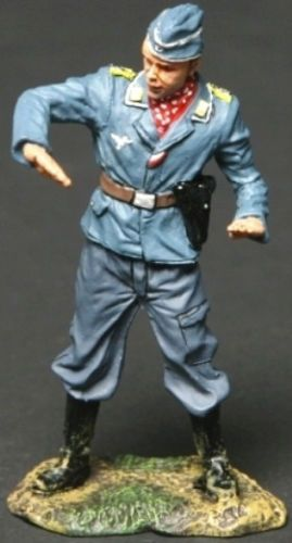World War II German Luftwaffe LUFT002A Pilot Demonstrating - Made by Thomas Gunn Military Miniatures and Models. Factory made, hand assembled, painted and boxed in a padded decorative box. Excellent gift for the enthusiast.