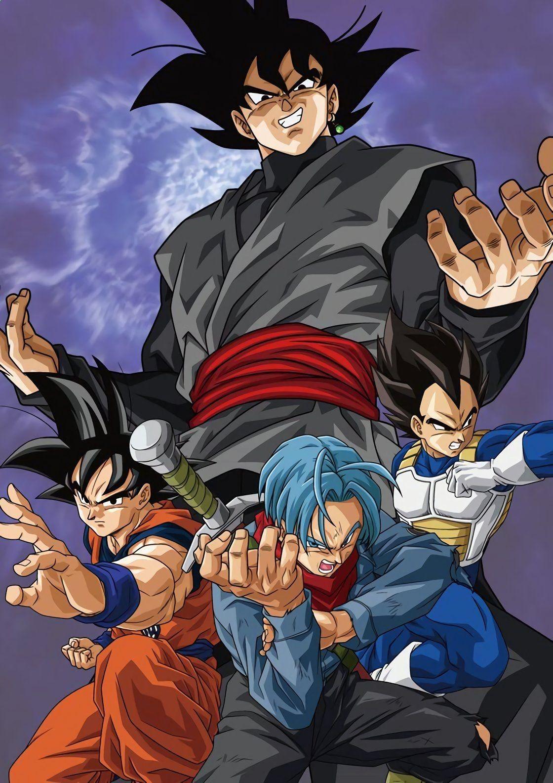 Black goku vs goku trunks and vegeta 2018 animes - Dbz goku vegeta ...