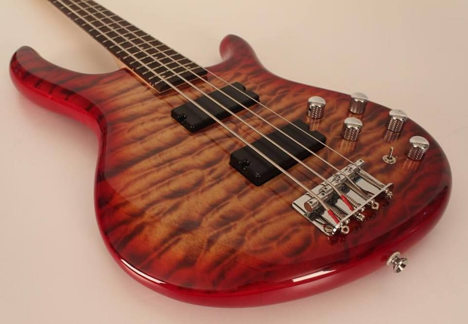 Cort Guitars and Basses Markbass preamp, dual soap bar PDX pickups, and beautifully figured maple top