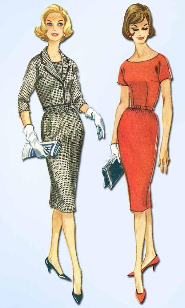 1960s Vintage McCalls Sewing Pattern 5507 Misses Sheath Dress ...
