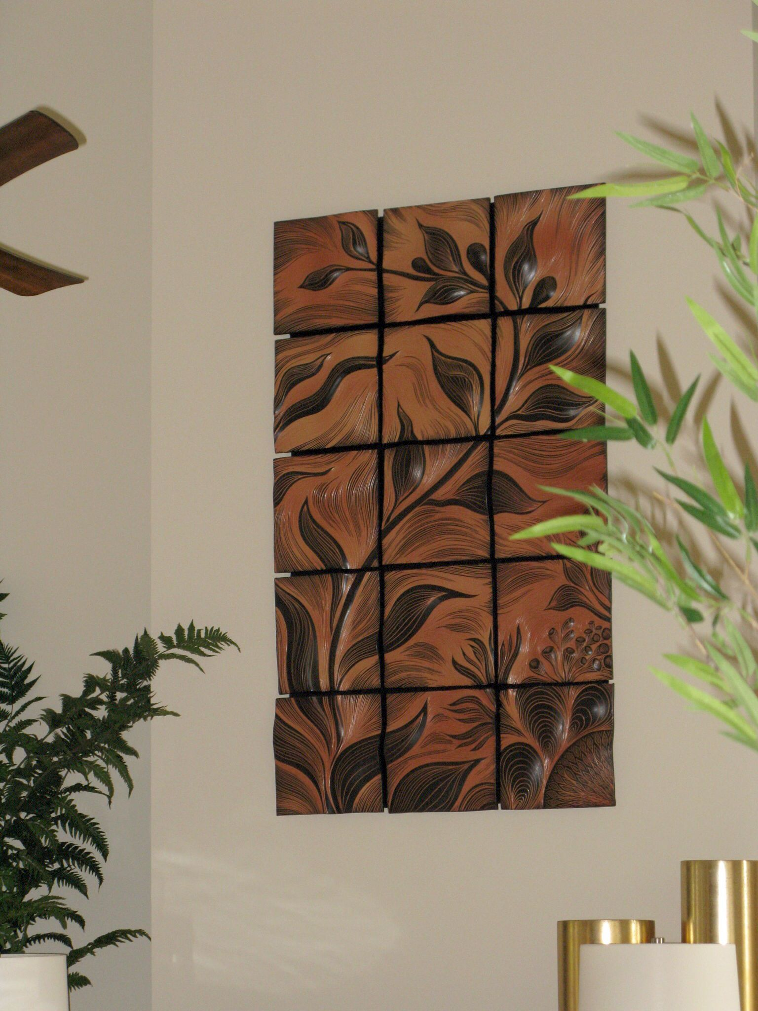 Natalie Blake Studios Artwork Brings Nature Elements Into Your Home Custom Ceramic Wall Art Tile