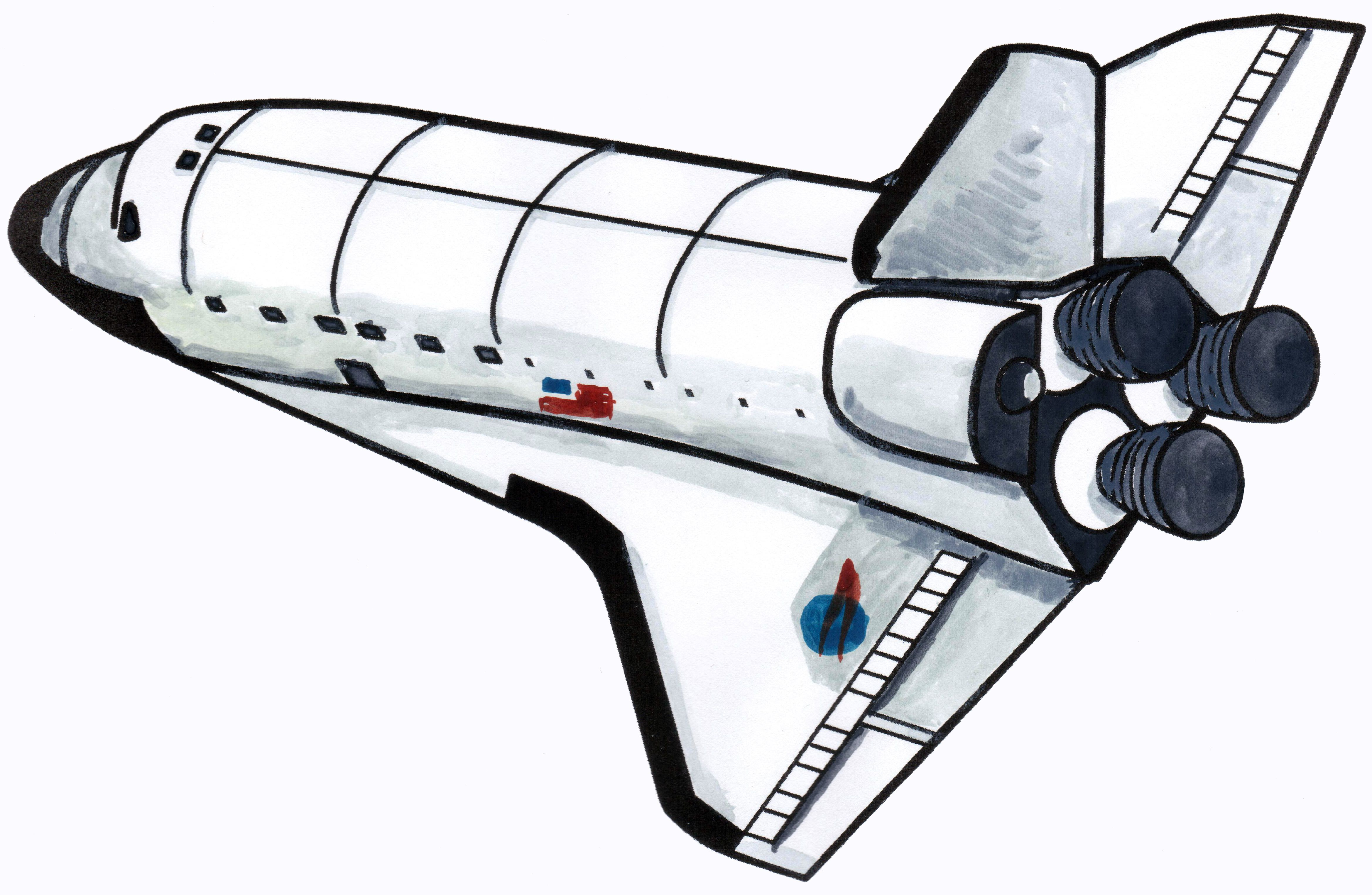 How to draw a spaceship or a space shuttle. Did you know ...
