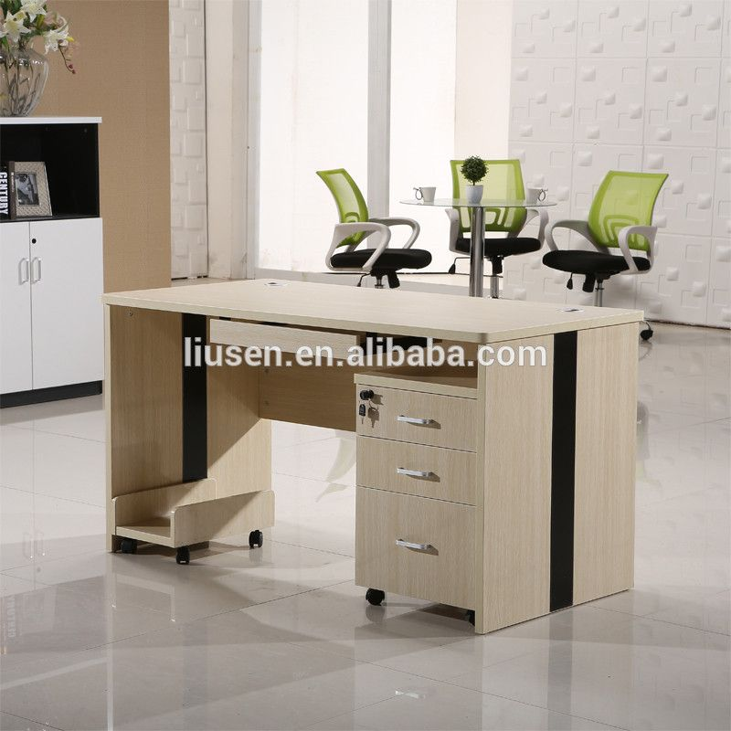 Factory Wholesale Price Office Staff Table Design Wooden Modern Computer Desk Photos Modern Computer Desk Desk Table Design