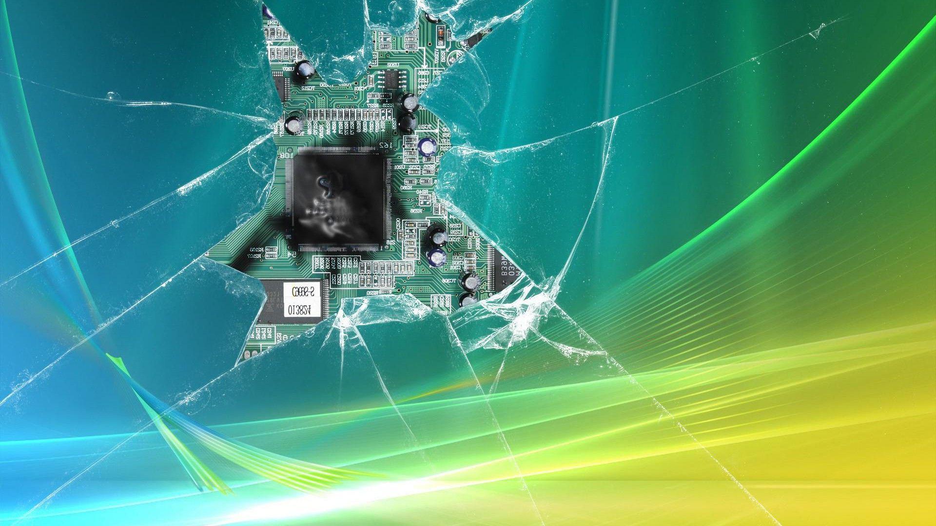 Shattered Screen Wallpaper Kertas Dinding Wallpaper Iphone