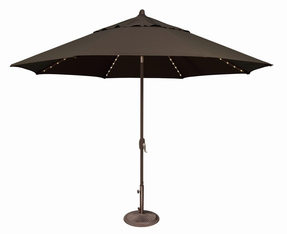 Simplyshade Ssum81sl 1100 A Lanai Pro 11 Foot Wide Open Sunbrella Market Umbrell Black Outdoor Living Umbrellas Table Insert Market Umbrella Large Patio Umbrellas Patio Umbrellas