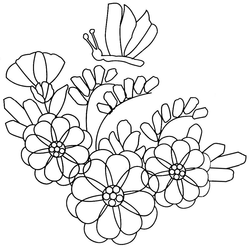 manualidades varias: Moldes de Flores Para Bordar en Cinta | Ideas ...