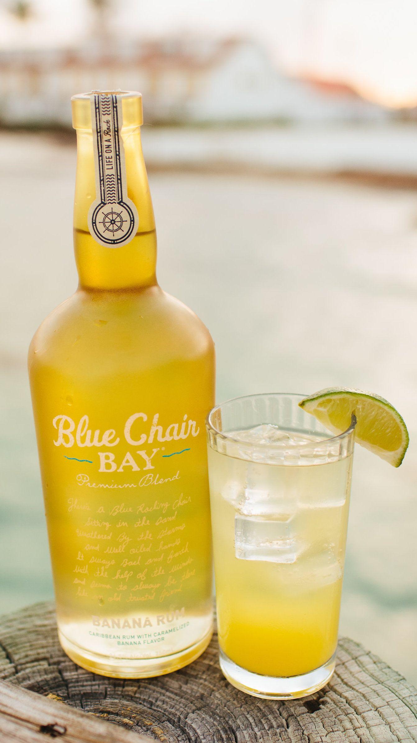 HIGH TIDE COCKTAIL 2 oz Blue Chair Bay Banana Rum 1 oz