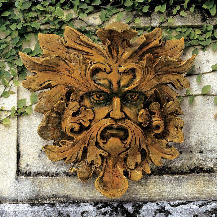Oak King Greenman Wall Decor Green Man Design Toscano Sculpture
