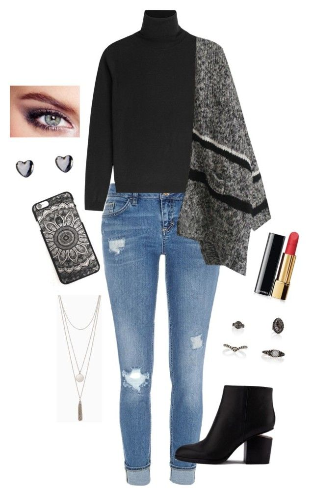 """""""Fall Style"""" by thebecster on Polyvore featuring River Island, Alexander Wang, RED Valentino, Wet Seal and Chanel"""