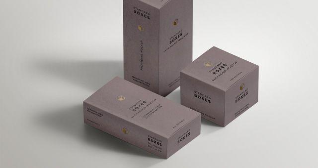 awesome Minimal Standard Packaging Box Mockups | Minimal Themes ...