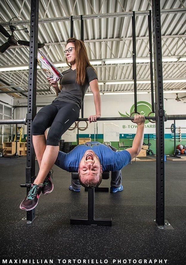Working Out Fitness Engagement Photos Themed Engagement Photos Engagement Photos
