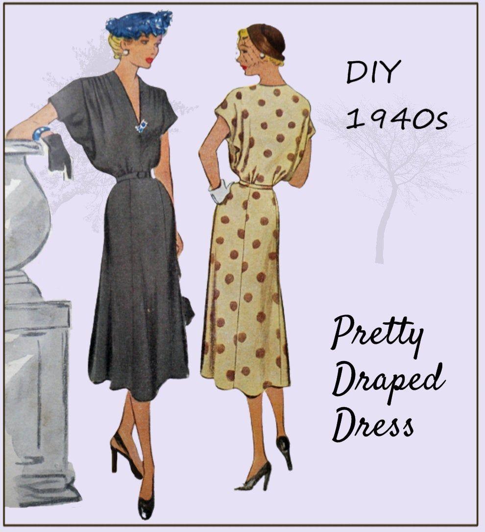 Pin On 1940s Sewing Patterns [ 1086 x 990 Pixel ]