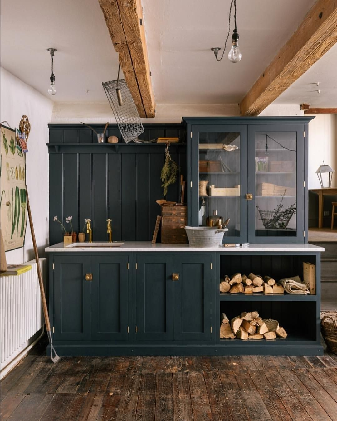 Farmhouse Kitchen With Dark Cabinets: Farmhouse Kitchen Cabinets, Farmhouse Style Kitchen, Devol Kitchens