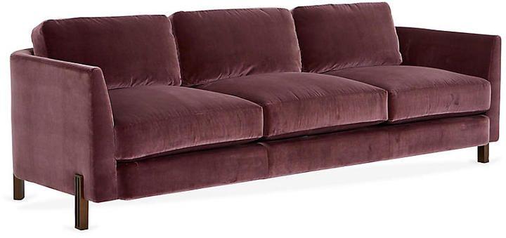 Terrific Kara Mann For Milling Road Brute 96 Sofa Dusk Orchid Machost Co Dining Chair Design Ideas Machostcouk