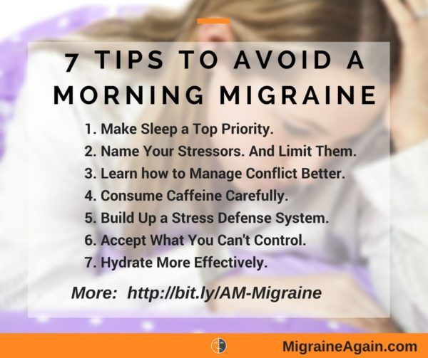 how to stop headaches in the morning