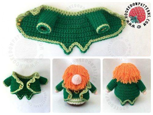 Free Amigurumi Leprechaun Pattern : St. patrick's day leprechaun gonk amigurumi crochet and free crochet