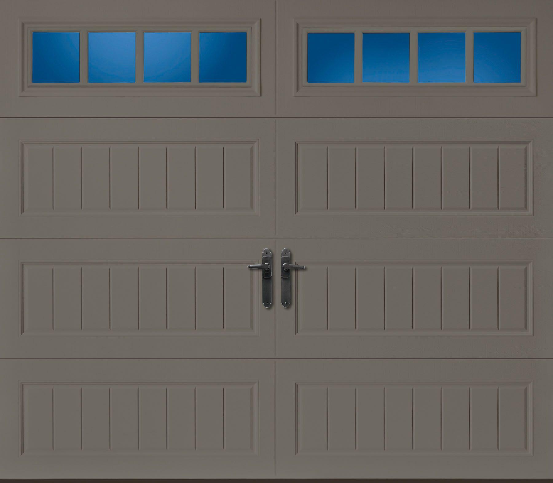 Amarr Oak Summit 1000 Walnut Garage Door: Amarr Oak Summit Long Panel Bead Board With Thames Windows
