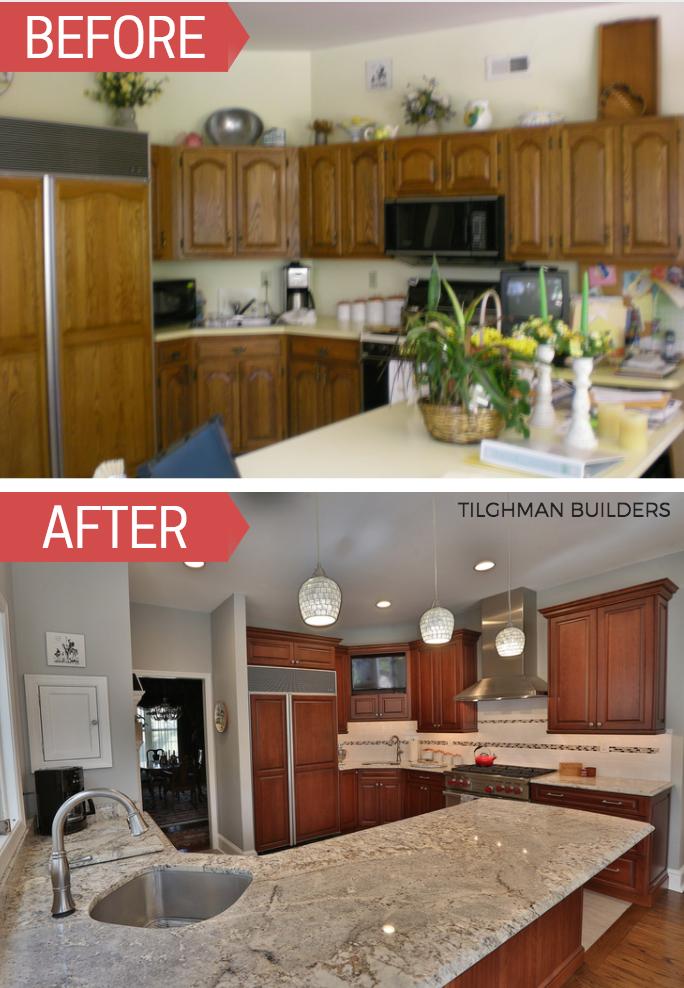 Kitchenremodel Before And After Tilghman Builders Pa Kitchen