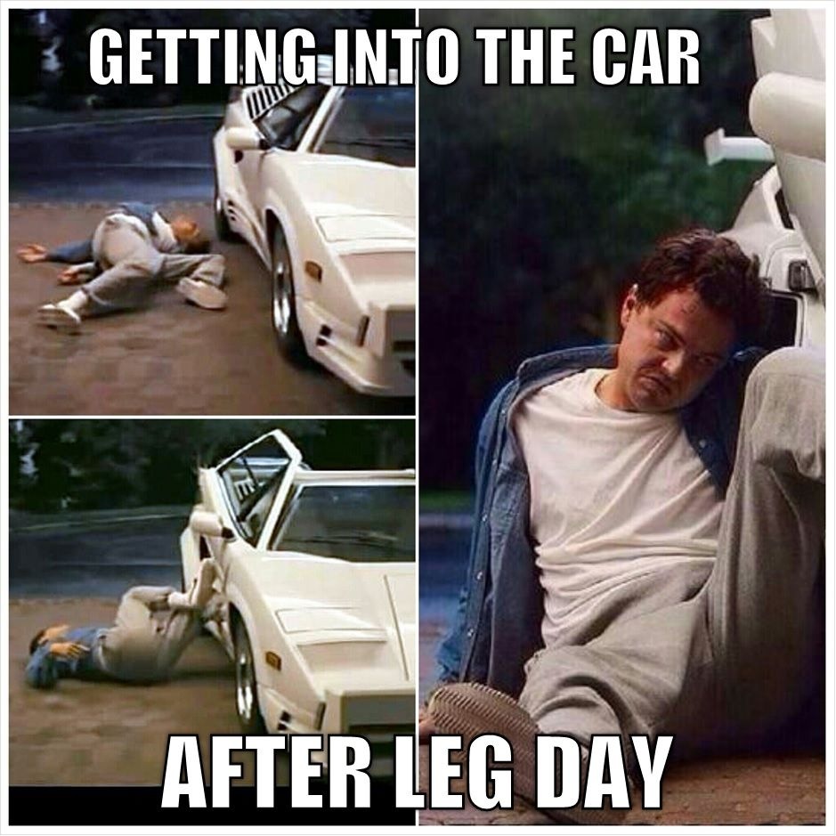 Funny Meme About Leg Day : Leg day struggle wolf of wall street humor fitness