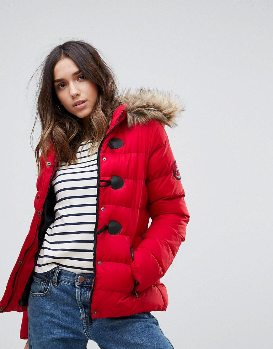 ae52e780f1 Get this Brave Soul's quilted jacket now! Click for more details. Worldwide  shipping. Brave Soul Short Padded Coat - Red: Jacket by Brave Soul, Padded  outer ...