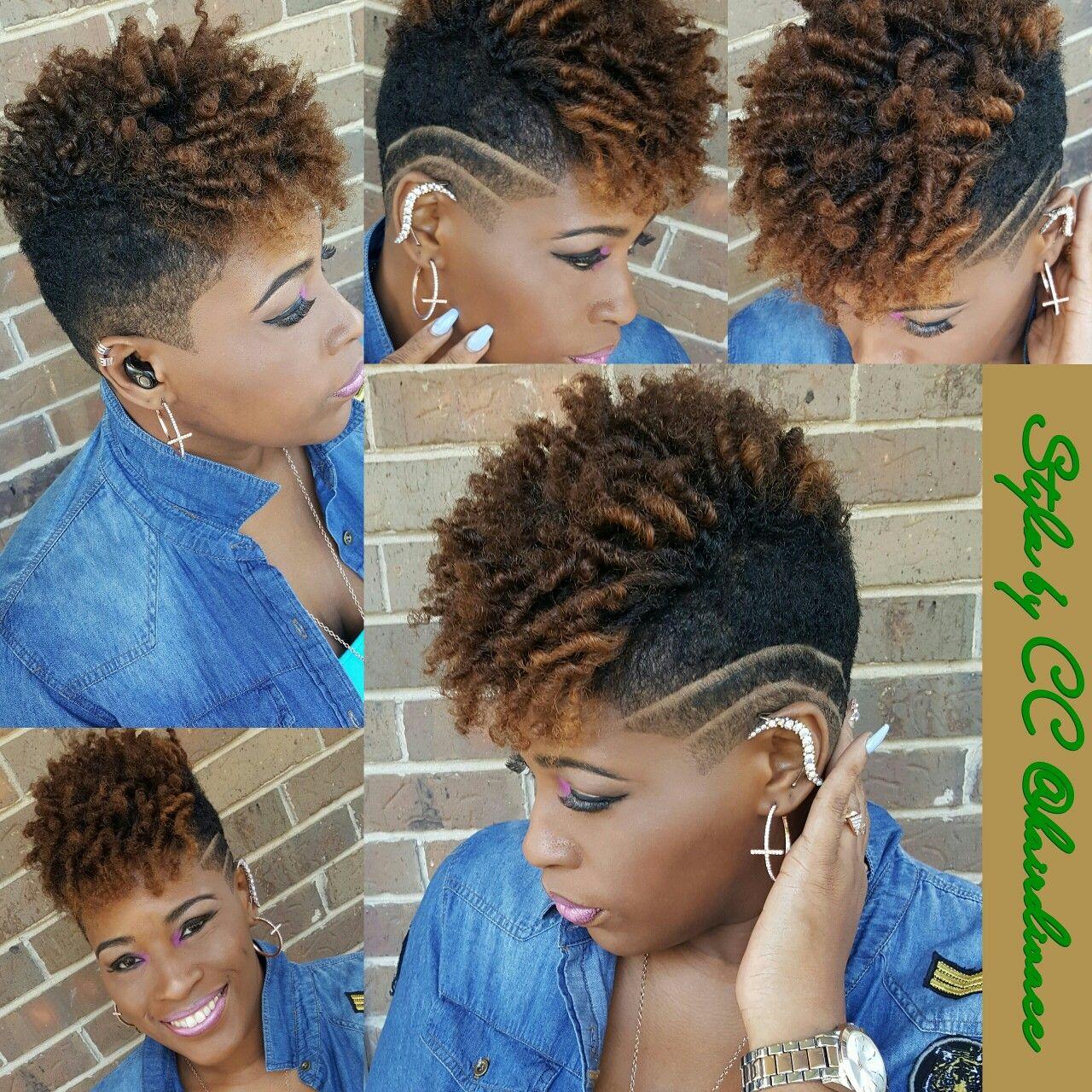 Short Natural Undercut Black Women Short Cuts