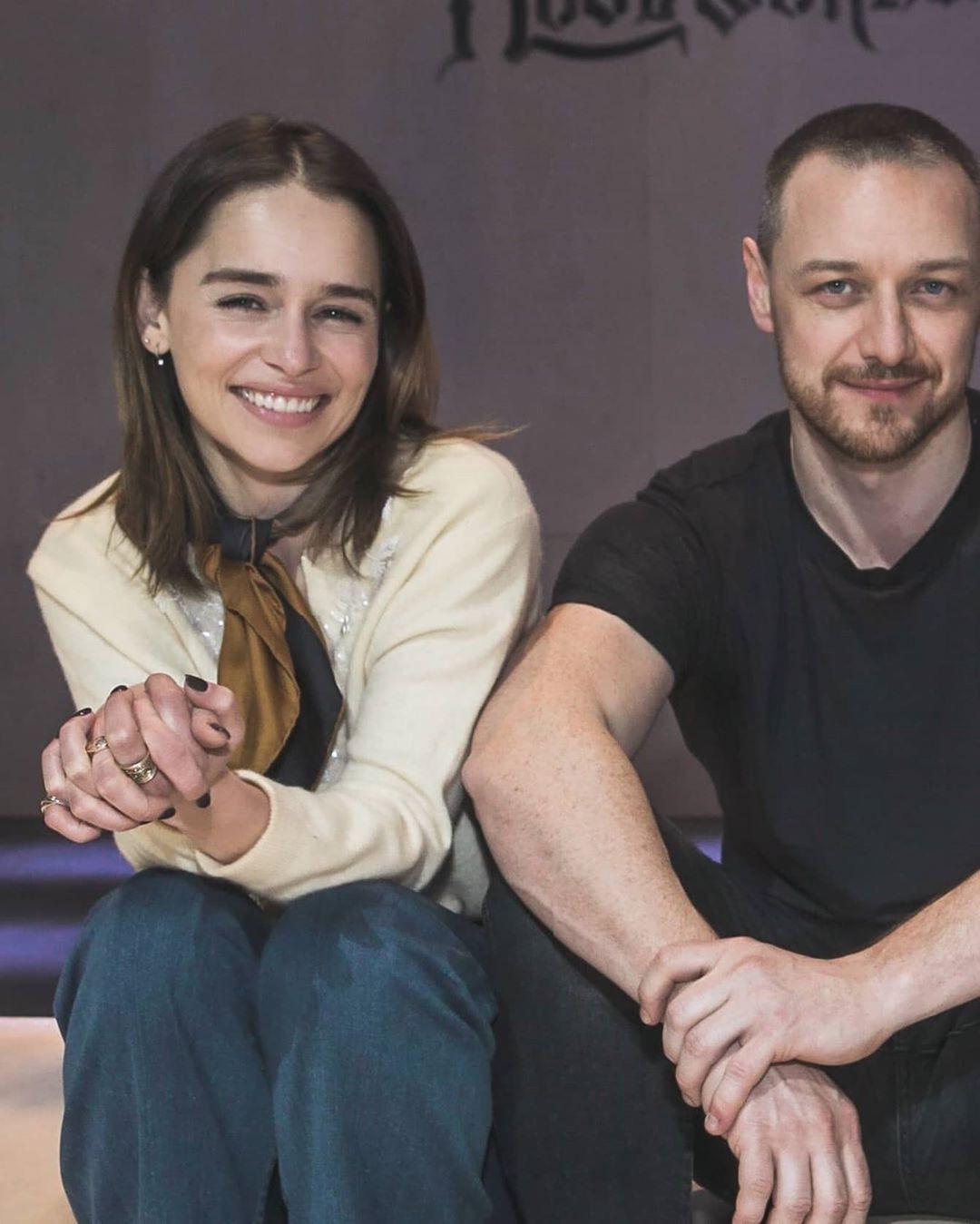 Emilia Clarke and James McAvoy | Emilia clarke, James ...