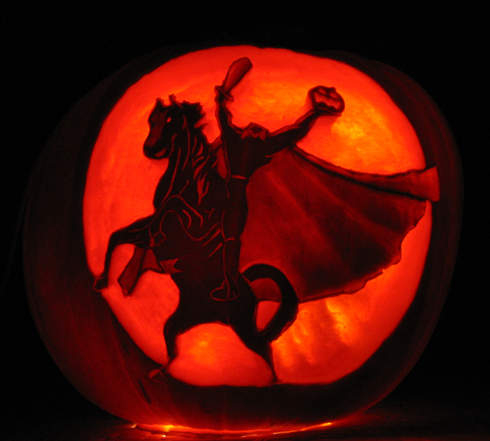 The Headless Horseman Pumpkin Carving Pumpkin Carving Pumpkin Stencil Pumpkin Carvings Stencils