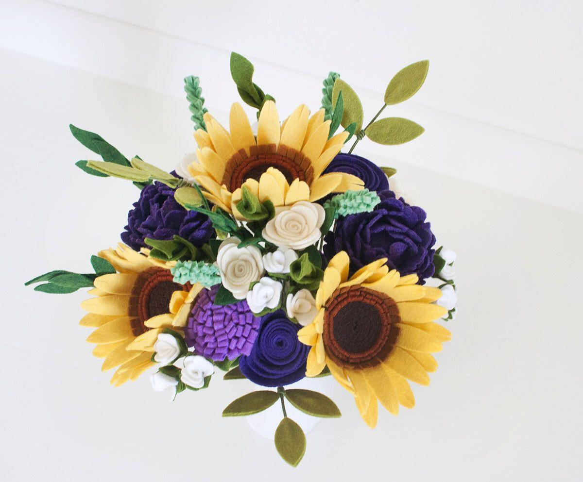 Felt Flower Bouquet - \