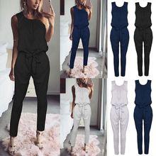 7c0e76fc Moda mujer vendaje sin mangas Jumpsuit partido Playsuit pantalones largos  monos H9(China)