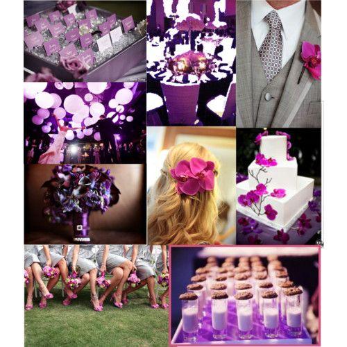 plum and fuchsia wedding