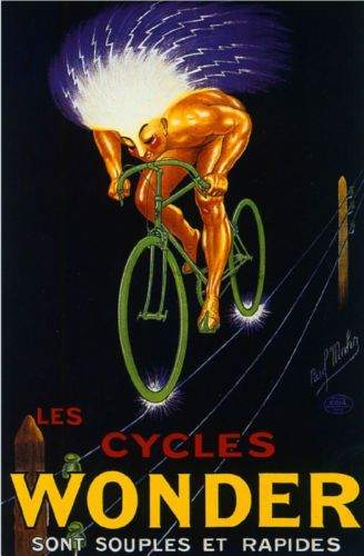 Bike Cycles Wonder Vintage Bicycle Poster Print Art Advertisement Cycling